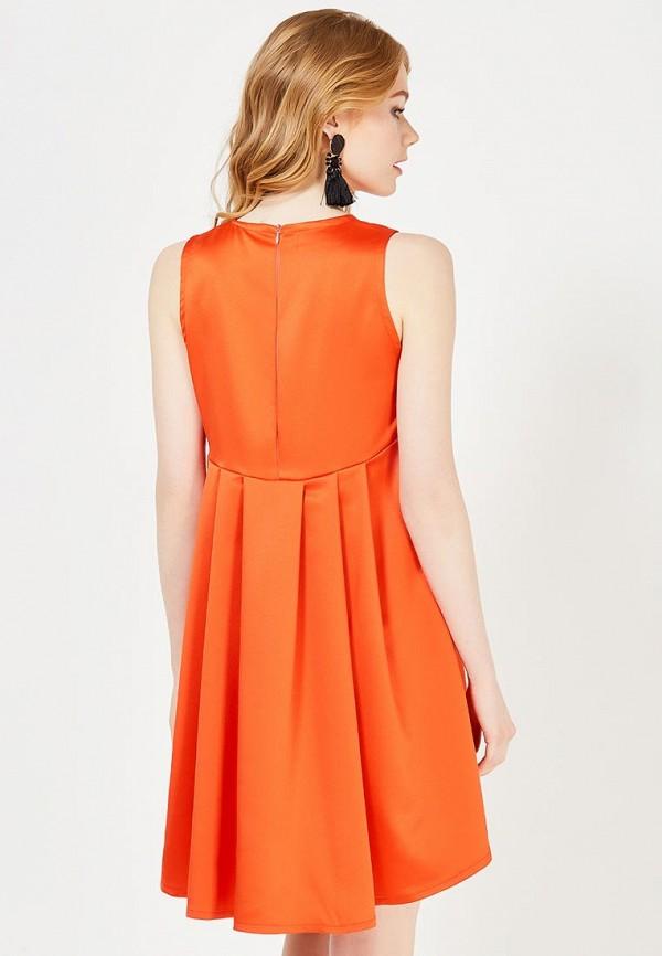 Фото 3 - женское вечернее платье Tutto Bene оранжевого цвета