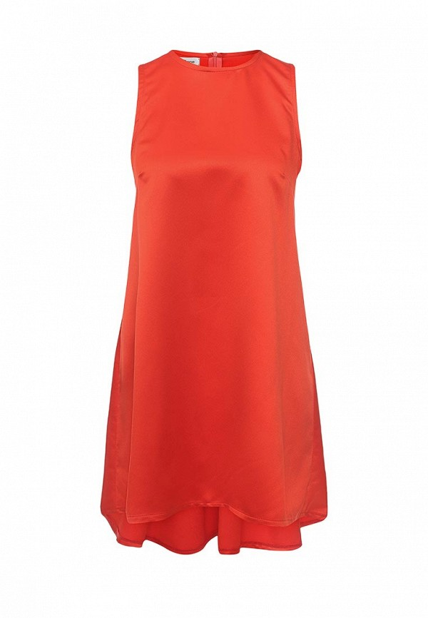 Фото 4 - женское вечернее платье Tutto Bene оранжевого цвета