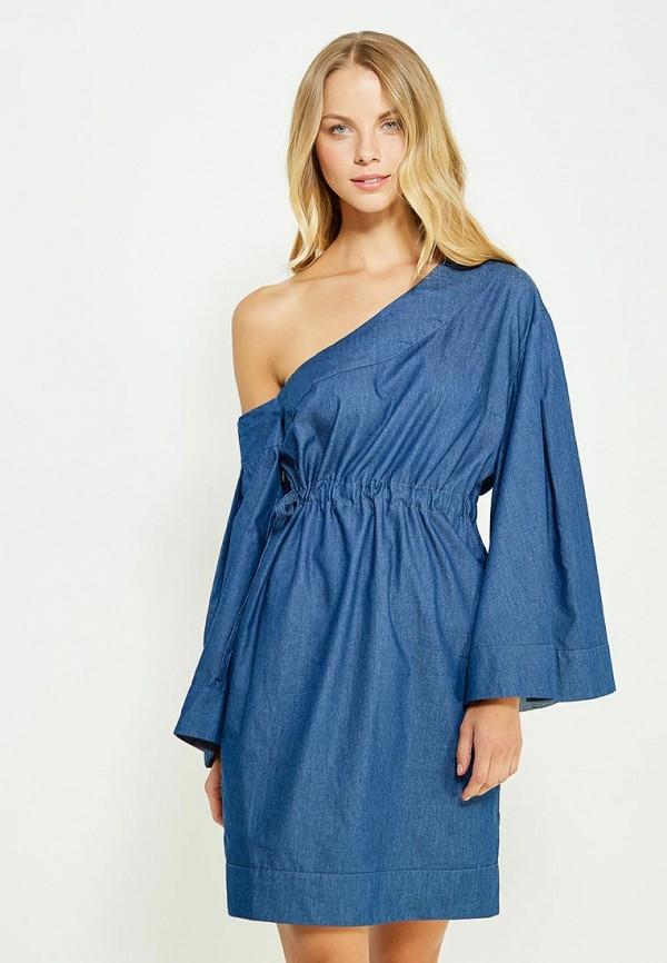 Фото - женское вечернее платье Tutto Bene синего цвета
