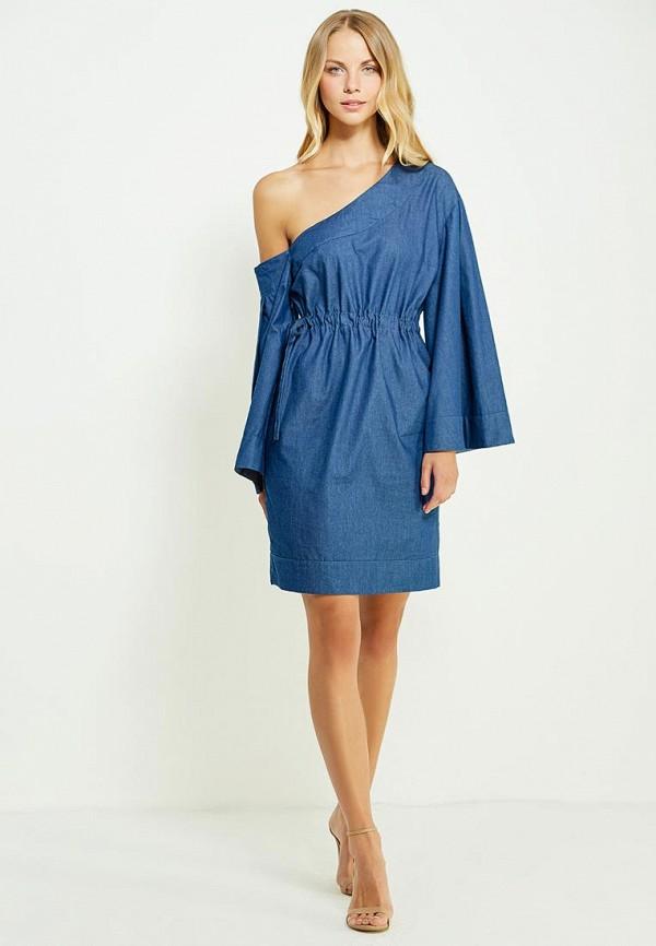 Фото 2 - женское вечернее платье Tutto Bene синего цвета