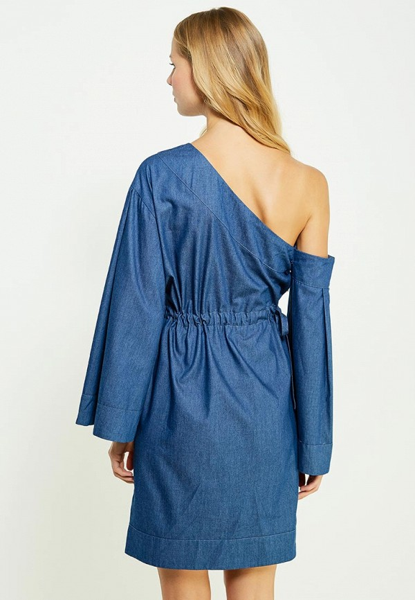 Фото 3 - женское вечернее платье Tutto Bene синего цвета