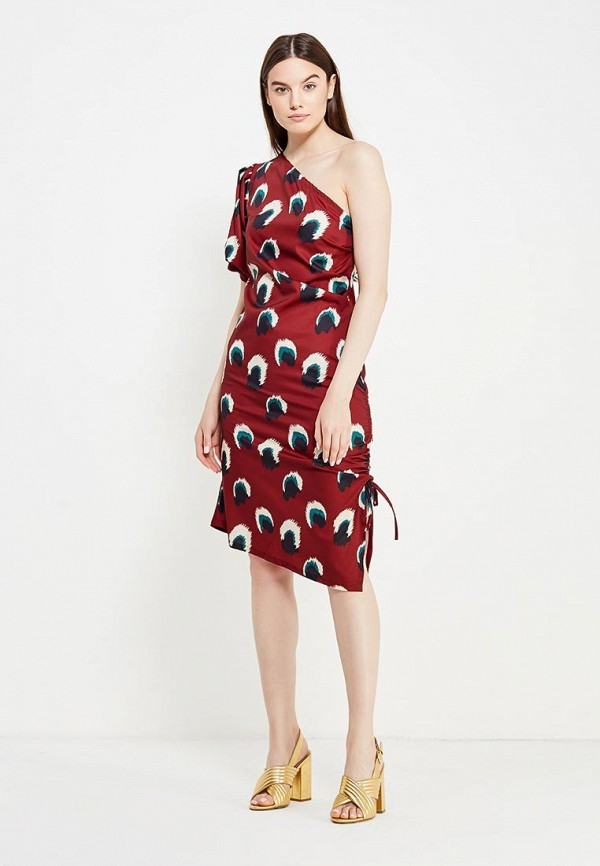 Фото 2 - женское платье Tutto Bene бордового цвета
