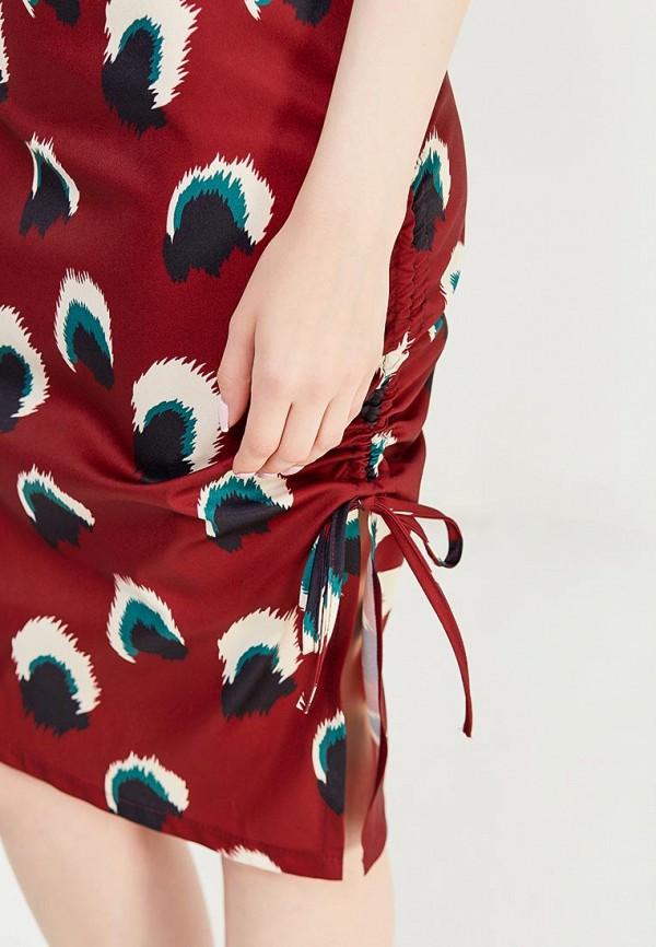 Фото 4 - женское платье Tutto Bene бордового цвета
