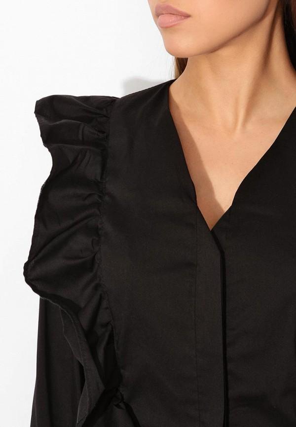 Фото 4 - женскую блузку Tutto Bene черного цвета