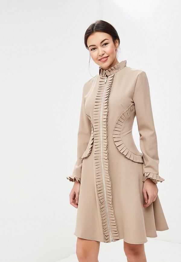 Купить Платье Tutto Bene, TU009EWZWM89, бежевый, Весна-лето 2018