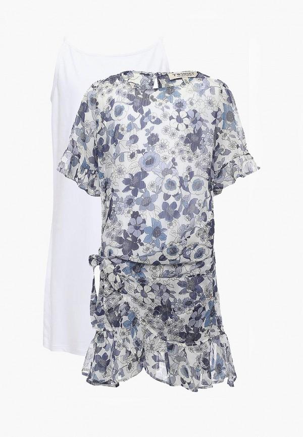Купить Платье Twin-Set Simona Barbieri, TW005EGAOZS0, синий, Весна-лето 2018