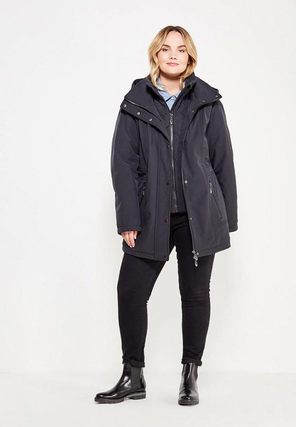 Фото 2 - Куртку утепленная Ulla Popken черного цвета