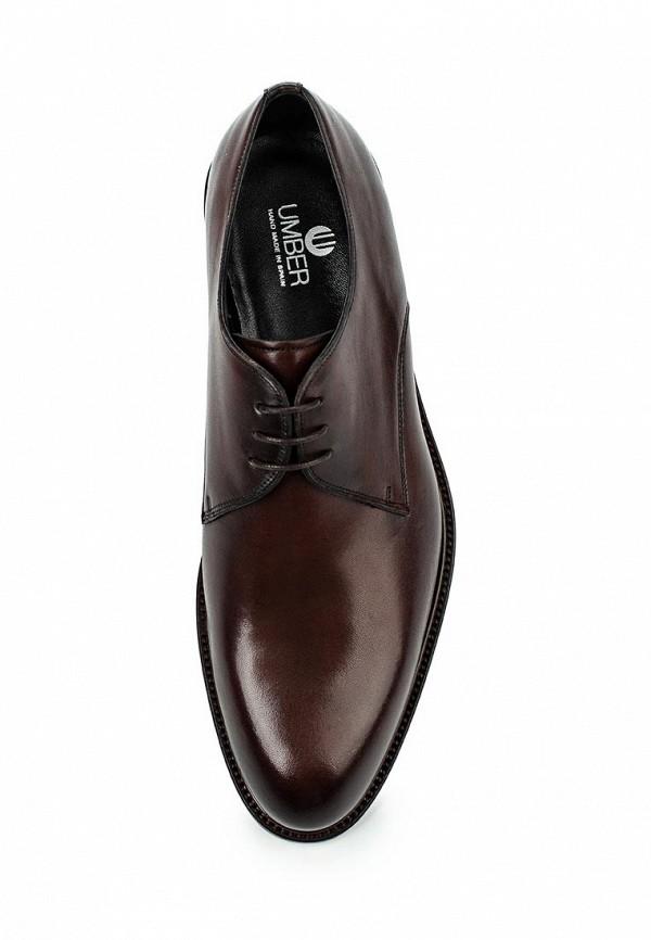 Фото 4 - мужские туфли Umber коричневого цвета
