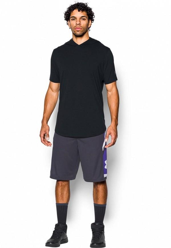 Купить Футболка спортивная Under Armour, UA Baseline SS Hooded Tee, UN001EMXRQ51, черный, Осень-зима 2017/2018