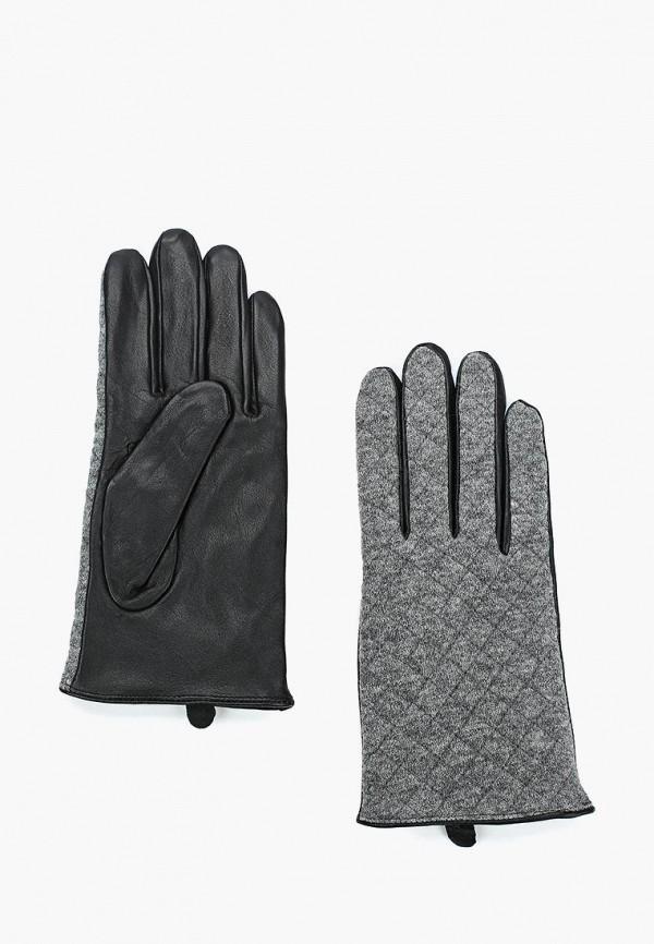 Фото - женские кожаные перчатки United Colors of Benetton серого цвета