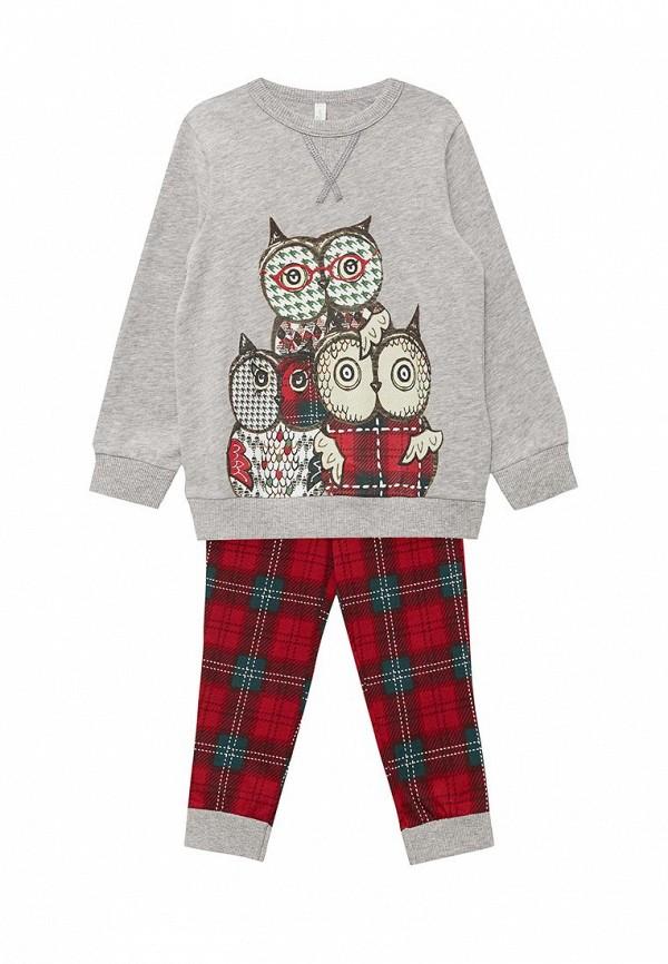 Пижама  красный, серый цвета