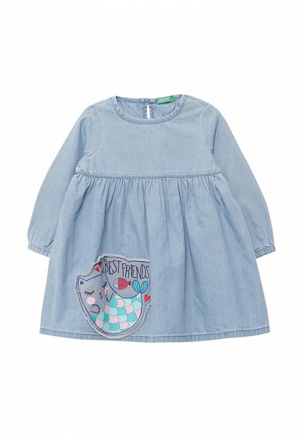 Платье джинсовое United Colors of Benetton United Colors of Benetton UN012EGABRB0