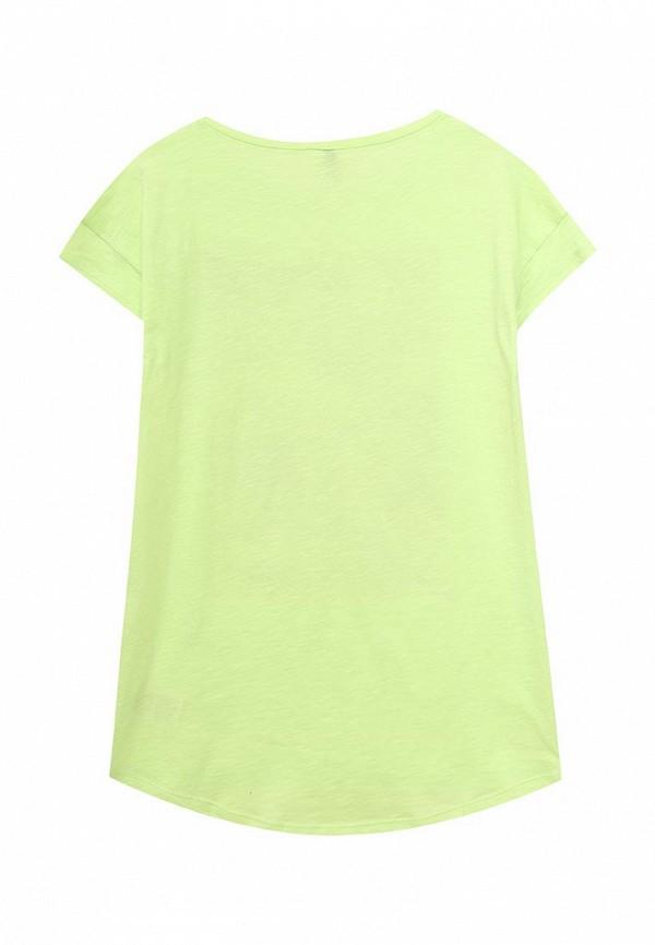 Фото 2 - Футболку United Colors of Benetton зеленого цвета
