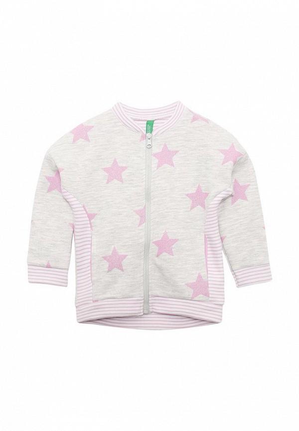 Купить толстовку или олимпийку для девочки United Colors of Benetton серого цвета