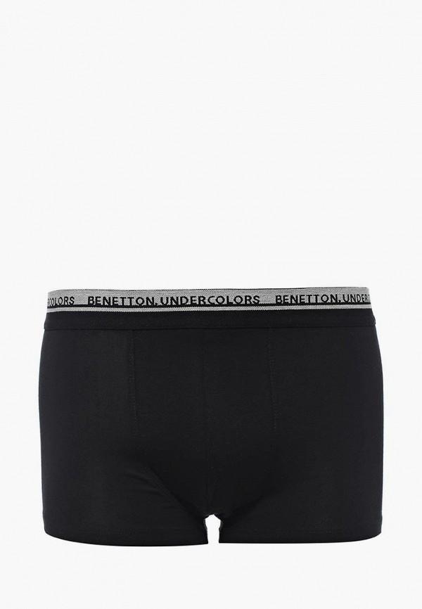Фото 3 - мужские трусы United Colors of Benetton черного цвета