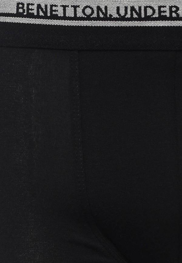 Фото 2 - мужские трусы United Colors of Benetton черного цвета