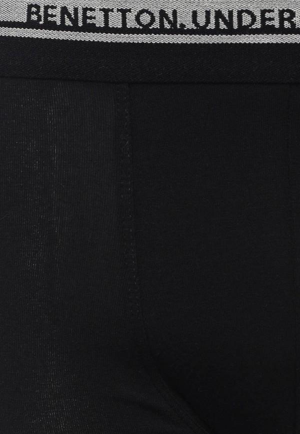Фото 4 - мужские трусы United Colors of Benetton черного цвета