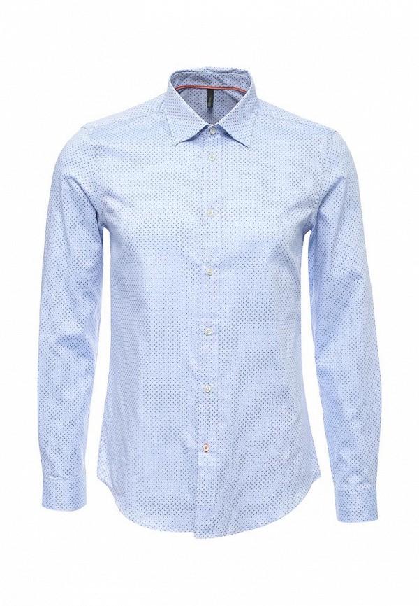 Купить мужскую рубашку United Colors of Benetton голубого цвета