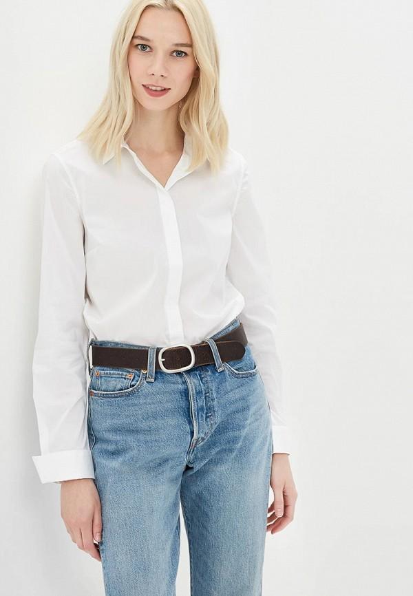 Фото 5 - женскую рубашку United Colors of Benetton белого цвета