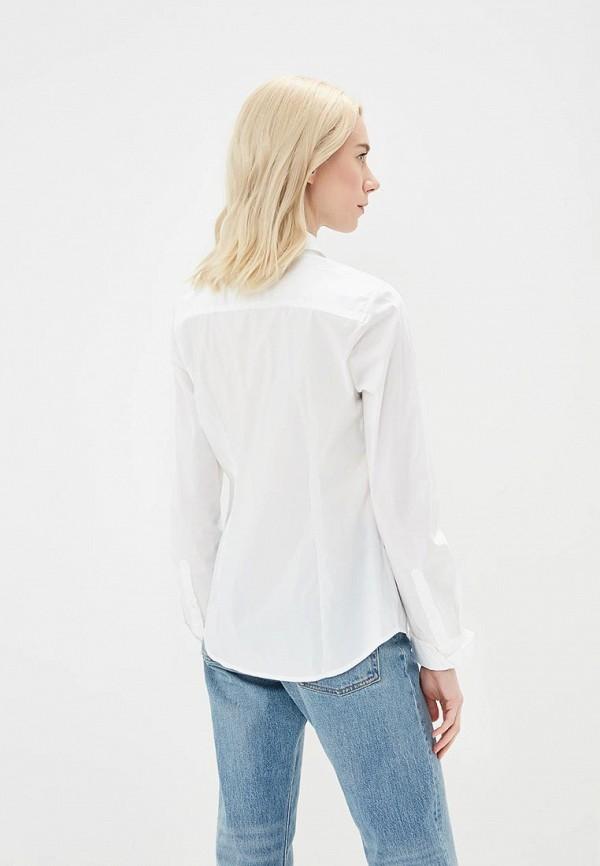 Фото 7 - женскую рубашку United Colors of Benetton белого цвета