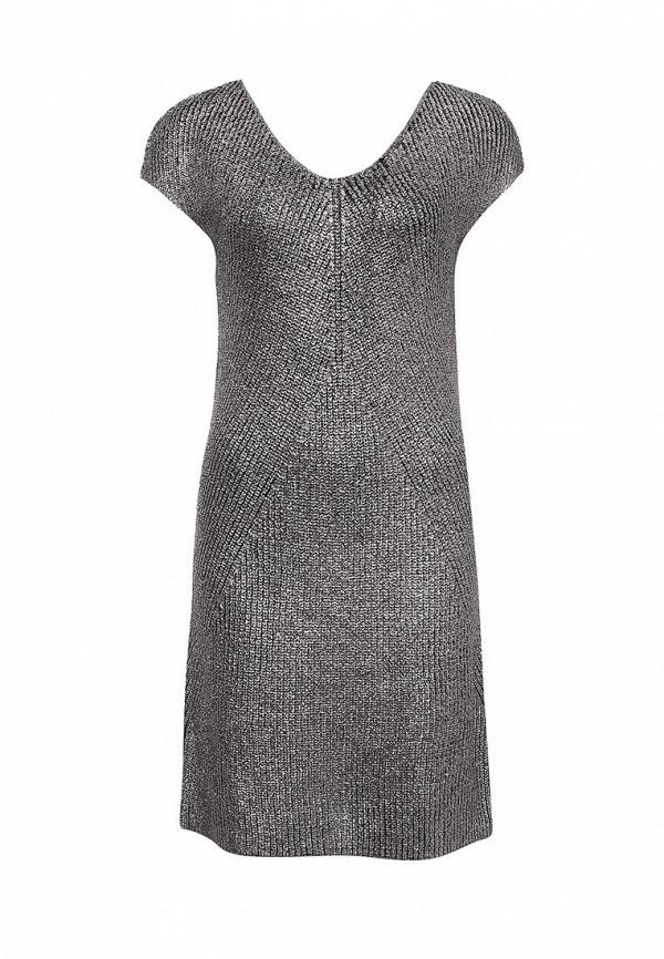 Фото - женское платье United Colors of Benetton серебрянного цвета