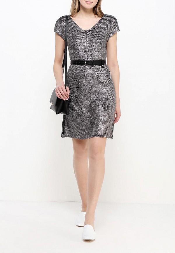 Фото 2 - женское платье United Colors of Benetton серебрянного цвета