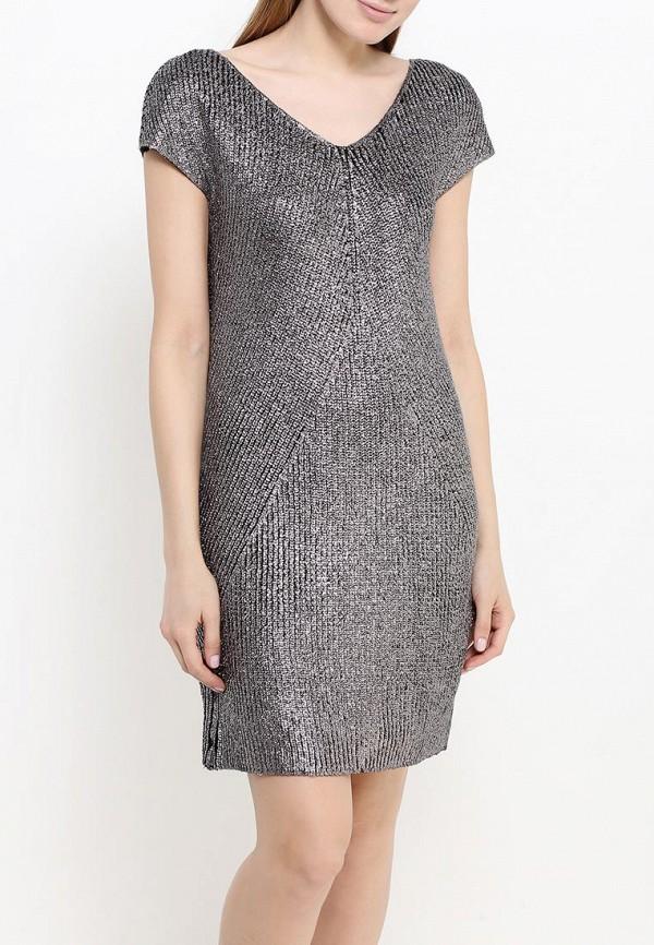 Фото 3 - женское платье United Colors of Benetton серебрянного цвета