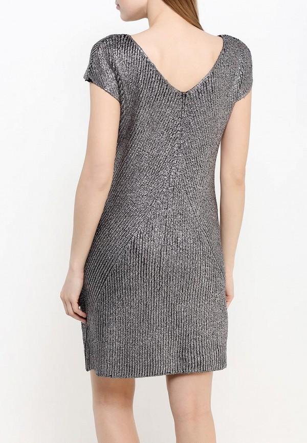 Фото 4 - женское платье United Colors of Benetton серебрянного цвета