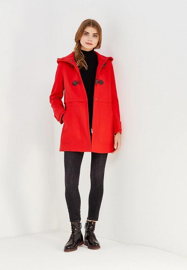 Фото 2 - женское пальто или плащ United Colors of Benetton красного цвета