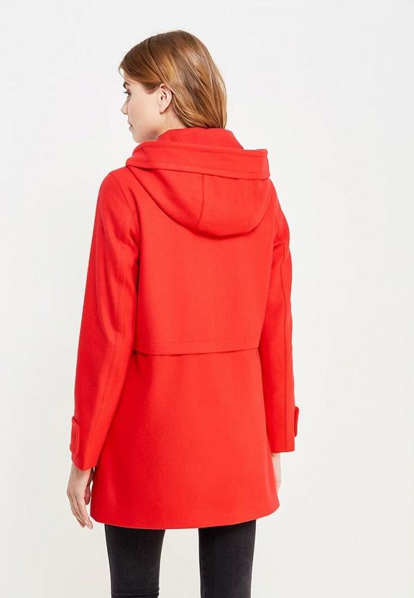 Фото 3 - женское пальто или плащ United Colors of Benetton красного цвета