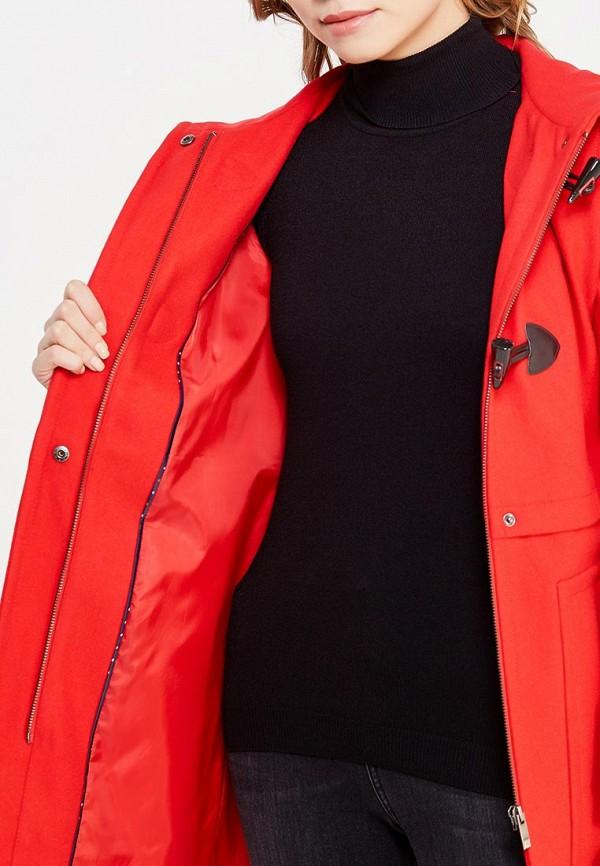 Фото 4 - женское пальто или плащ United Colors of Benetton красного цвета