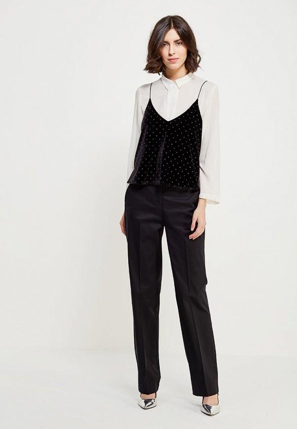 Фото 2 - женские брюки United Colors of Benetton черного цвета