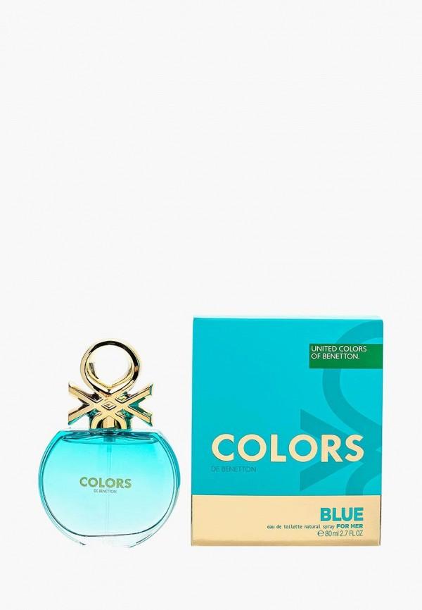 Купить Туалетная вода United Colors of Benetton, Colors BLUE 80 мл, UN012LWMZQ63, Весна-лето 2018