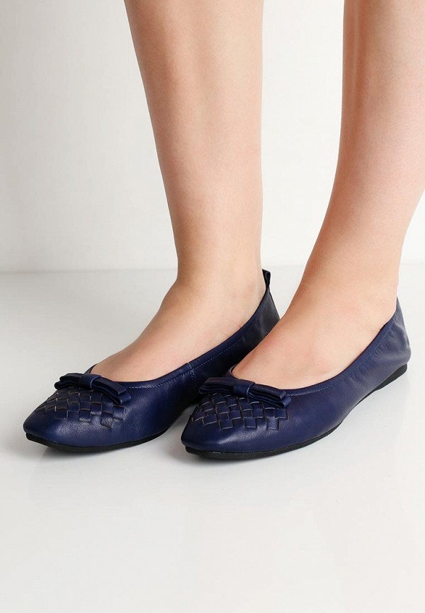 Фото 5 - женские балетки Valley синего цвета