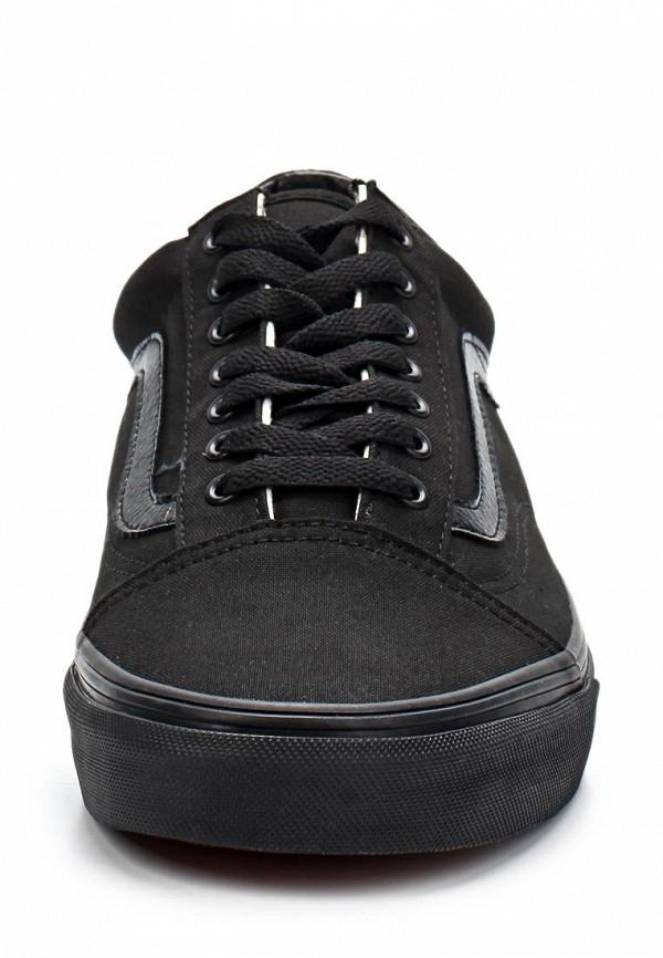 Фото 4 - женские кеды Vans черного цвета