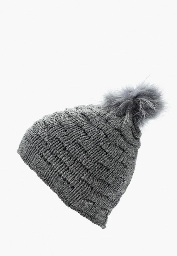 Фото 6 - женскую шапку Venera серого цвета