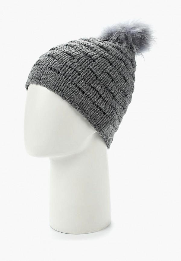 Фото 7 - женскую шапку Venera серого цвета