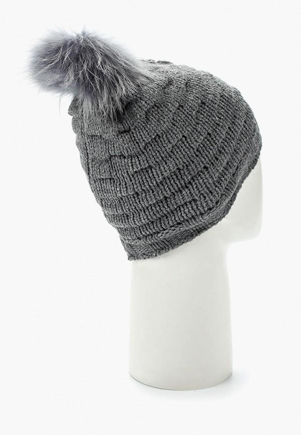 Фото 8 - женскую шапку Venera серого цвета