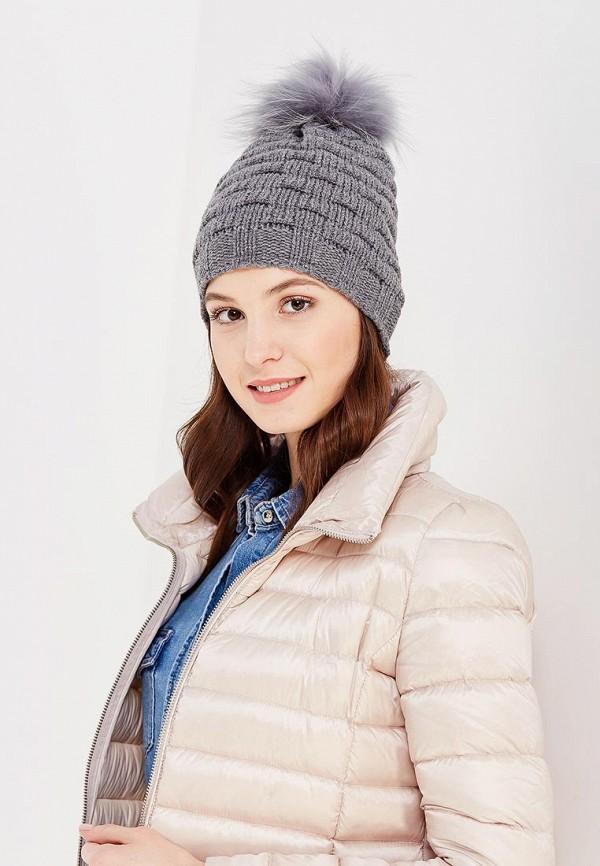 Фото 5 - женскую шапку Venera серого цвета