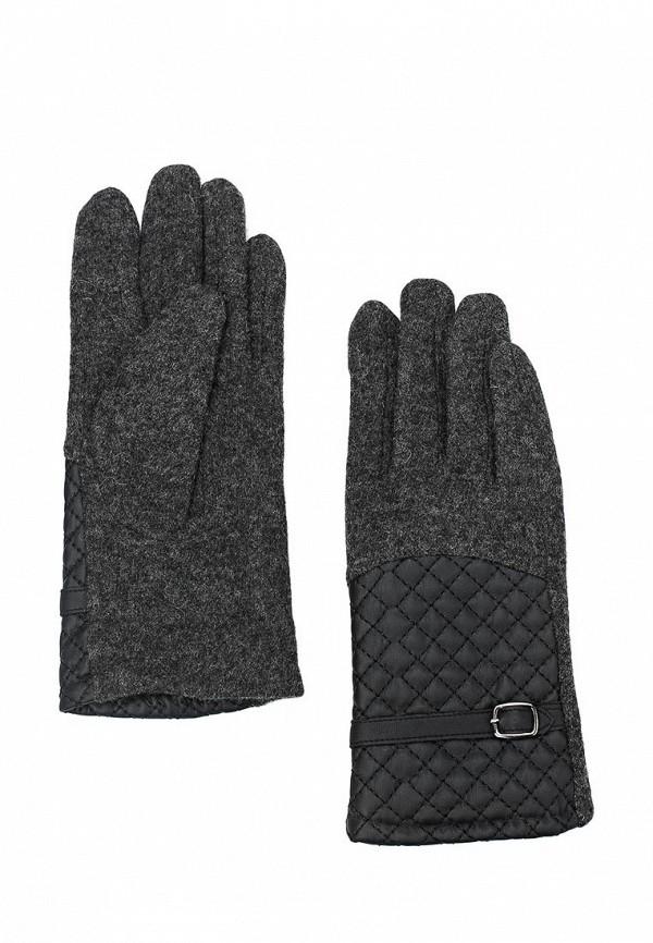 Фото - женские текстильные перчатки Venera серого цвета