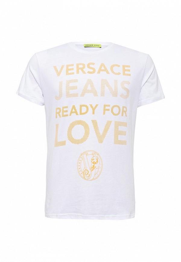 Футболка с надписями Versace Jeans B3GNA780