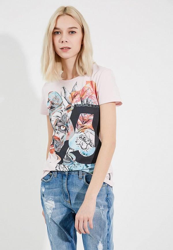 Футболка Versace Jeans Versace Jeans VE006EWZIB44 солнцезащитные очки versace ve 4237b