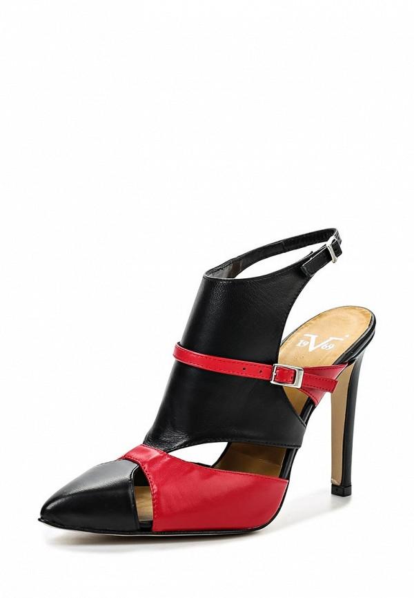 Женские босоножки Versace 19.69 ALEXIA_NERO-ROSSO