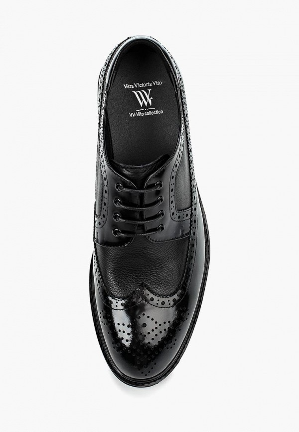 Фото 8 - мужские туфли Vera Victoria Vito черного цвета