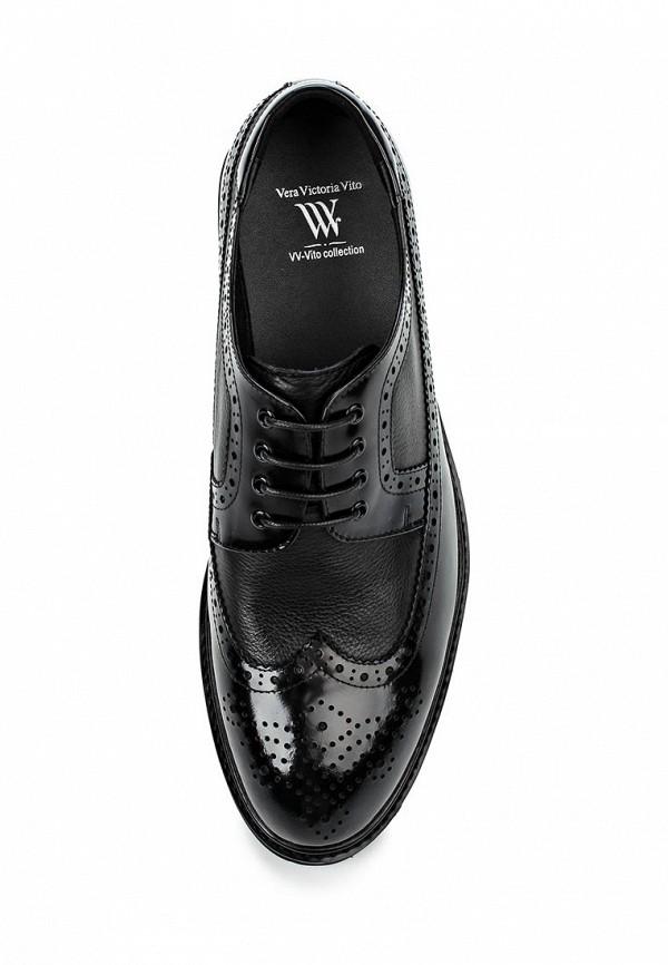 Фото 4 - мужские туфли Vera Victoria Vito черного цвета