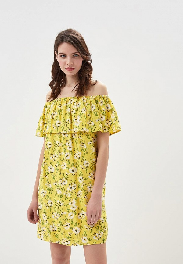 Купить Платье Vero Moda, VE389EWAFUY9, желтый, Весна-лето 2018