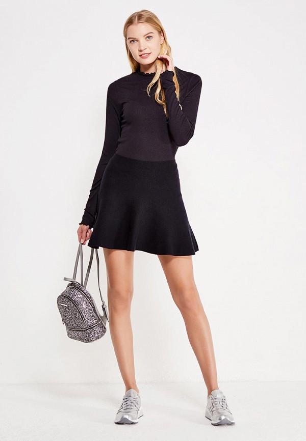Фото 2 - женскую юбку Vero Moda черного цвета