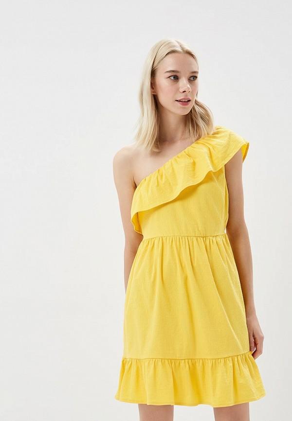 Купить Платье Vero Moda, VE389EWZKT91, желтый, Весна-лето 2018
