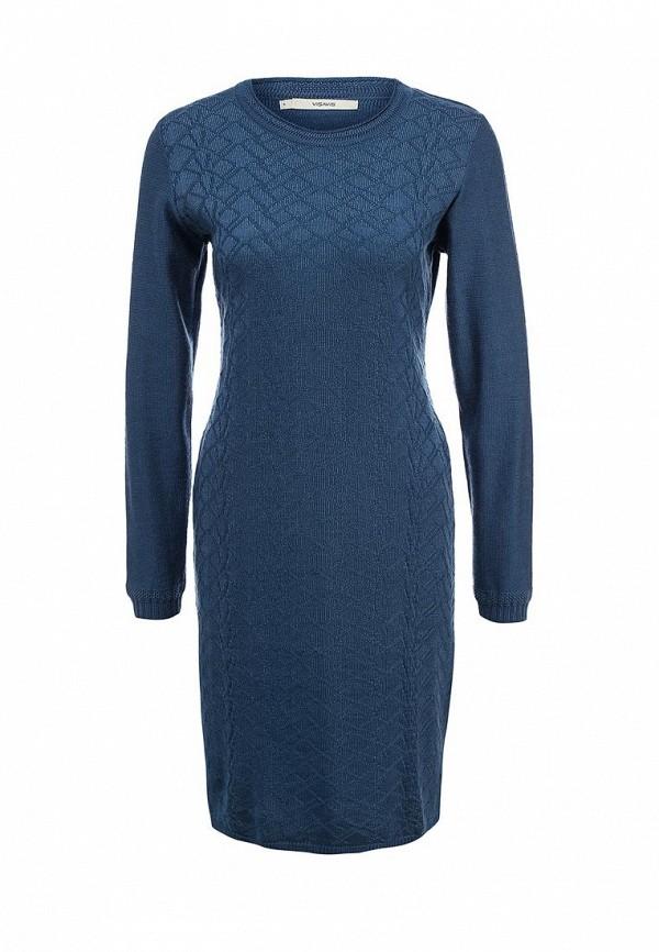 Вязаное платье Vis-a-Vis VIS-0195D LIGHT JEANS