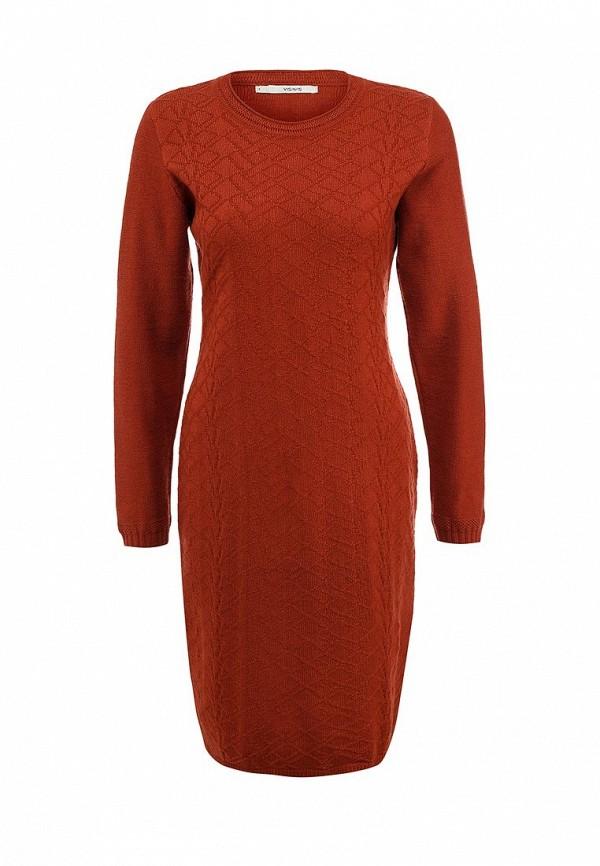 Повседневное платье Vis-a-Vis VIS-0195D/TERRACOTTA